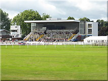 SO8455 : Worcester racecourse - main stand by Chris Allen