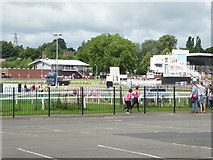 SO8455 : Worcester racecourse - 'Race for Life' by Chris Allen