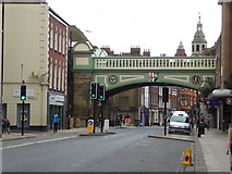 SO8455 : Railway bridge - Foregate Street, Worcester by Chris Allen
