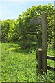 SS2808 : Picnic table and signpost, Bude Aqueduct by Derek Harper