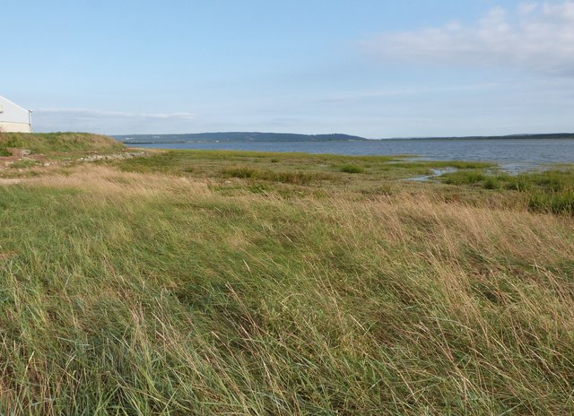 Looking South-east over the dunes of the Gwendraeth estuary