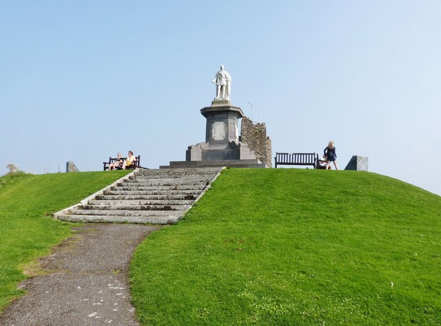 Monument to Prince Albert atop Castle Hill, Tenby
