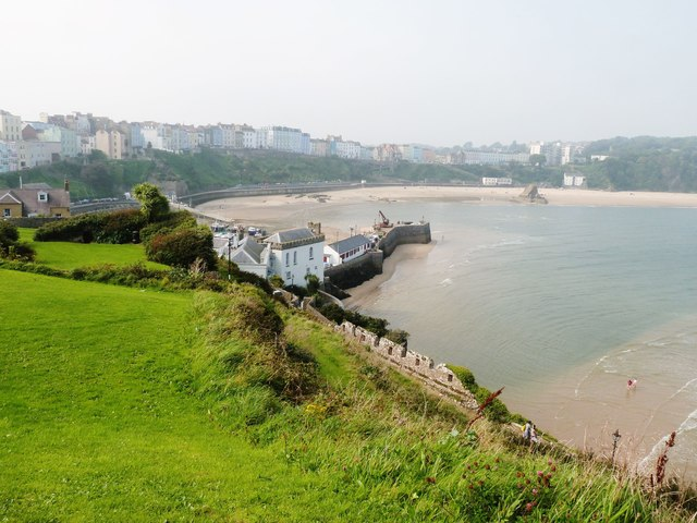 View North-west from Castle Hill, Tenby