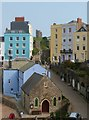 SN1300 : Looking down onto Bridge Street from Crackwell Street, Tenby by Derek Voller