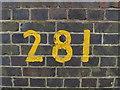 TG0723 : Bridge Number on Marriott's Way Bridge by Adrian Cable