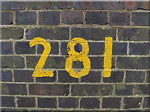 TG0723 : Bridge Number on Marriott's Way Bridge by Adrian Cable