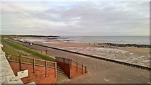 NZ3573 : Whitley Bay beach looking towards St Mary's lighthouse by Chris Morgan