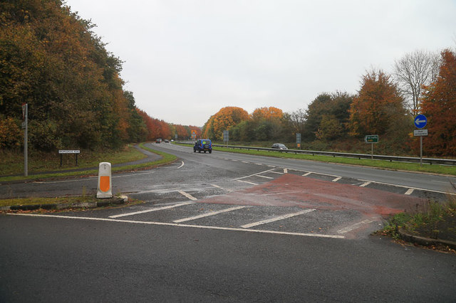 Road junction A491 near Clent