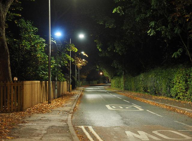 Station Road at Night