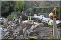 SO2001 : Construction of bridge support, Aberbeeg, October by M J Roscoe
