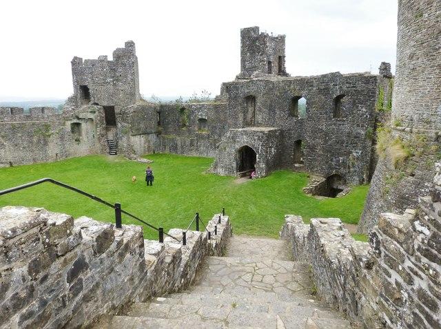 Ruins of Dinfwr Castle, near Llandeilo