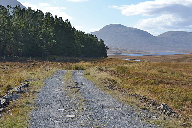The track to Loch a' Bhraoin