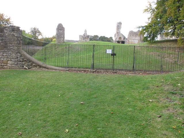 Claire-voie or claire-voire viewpoint at Sherborne Castle