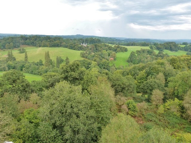 View North from Dinefwr Castle, near Llandeilo