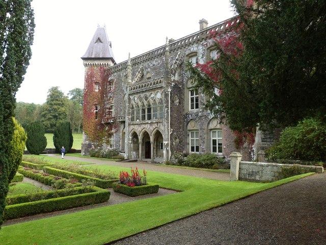 The West front of Newton House, near Llandeilo, Carmarthenshire