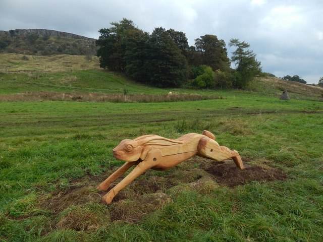 New sculpture in Lang Craigs Woodland