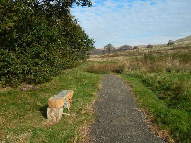 Path with new bench
