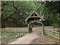 TL9322 : Lych Gate of St.Michael of All Angels Church by Adrian Cable