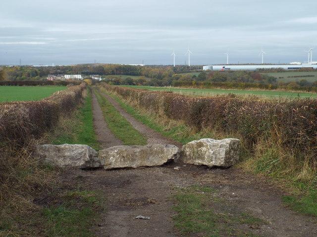 Public footpath near South Hylton