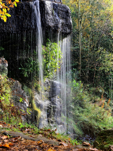 Waterfall in Stand Wood - the Sowter Stone