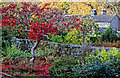 SK2572 : Gardens in Baslow by Andy Stephenson
