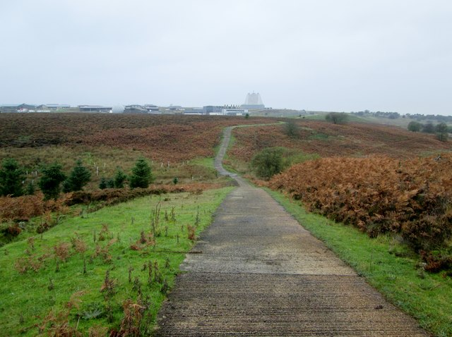 Concreted  track  off  Worm  Sike  Rigg  toward  Fylingdales