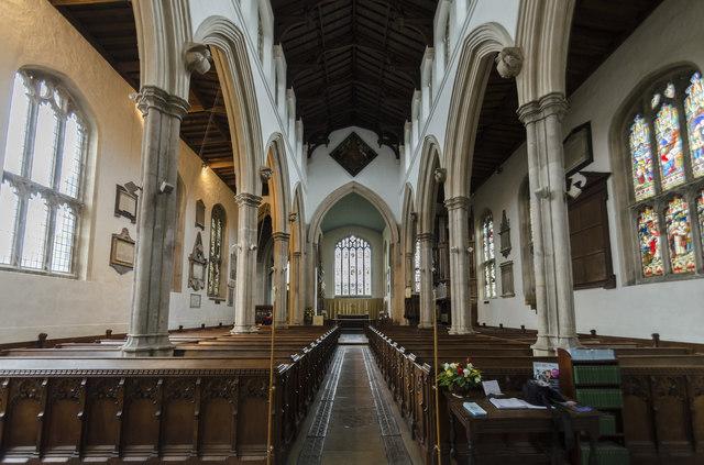 Interior, St Martin's church, Stamford