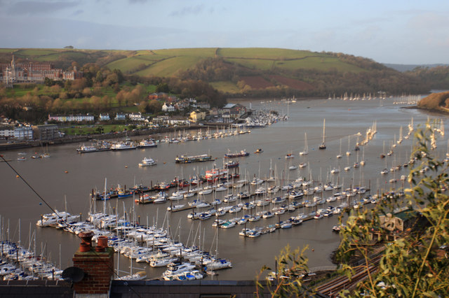 Looking across Dartmouth harbour