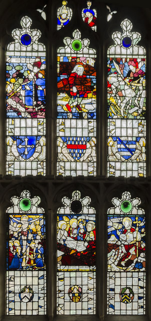 Stained glass window s.V, St Martin's church, Stamford