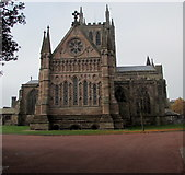 SO5139 : East side of Hereford Cathedral by Jaggery