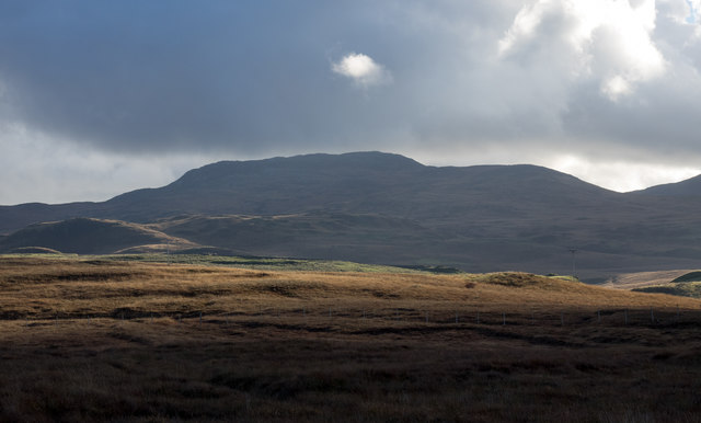 Moorland south-east of minor road