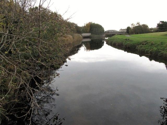 The Shimna River above the Shimna Road bridge