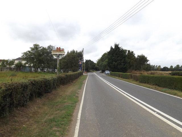 B1022 Maldon Road & Layer Marney Village sign