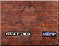 SO5139 : Old-style enamel sign on a Cantilupe Street wall in Hereford by Jaggery