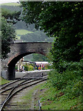 SJ1143 : Bridge at Carrog Station in Denbighshire by Roger  Kidd