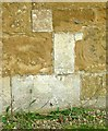 SK7929 : Bench mark, St Denys Church, Eaton by Alan Murray-Rust