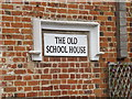 TL8918 : The Old School House sign by Adrian Cable