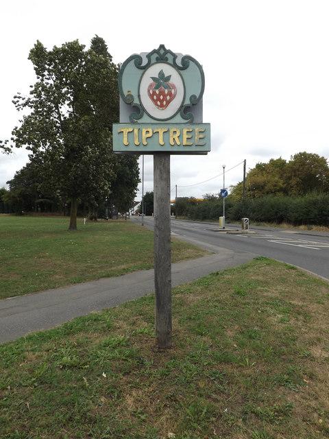 Tiptree Village sign
