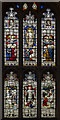 TF0306 : Stained glass window, St Martin's church, Stamford by Julian P Guffogg