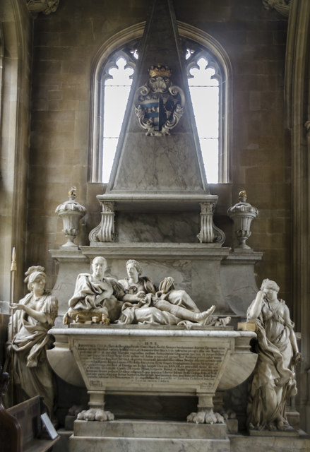 Monument to John Cecil & wife, St Martin's church, Stamford