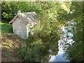 SO8101 : Boat house in Woodchester Park by Philip Halling