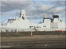 NT2677 : 'HDMS Iver Huitfeldt' tied up at Leith by M J Richardson