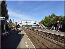 NY6820 : The footbridge, Appleby station by David Smith