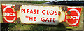 SK6613 : BOCM sign on gate by Andrew Tatlow