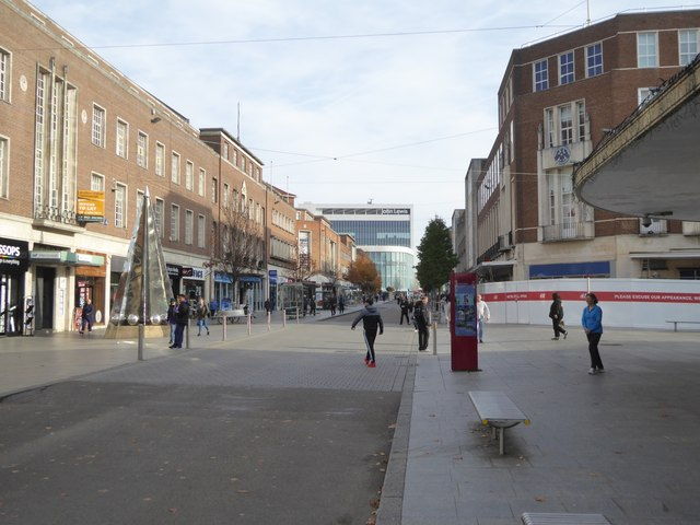 High Street, Exeter, without traffic