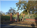 SJ8846 : Hanley Park: south-east entrance by Jonathan Hutchins