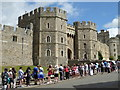SU9676 : Queuing for Windsor Castle by Chris Allen