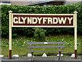 SJ1542 : Station sign at Glyndyfrdwy in Denbighshire by Roger  Kidd