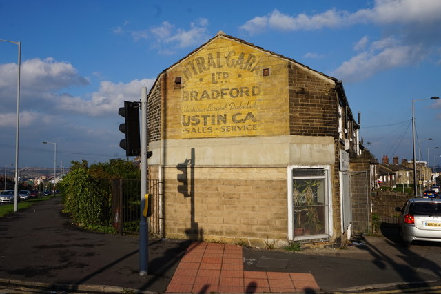 Old advertisement on Little Horton Lane, Bradford