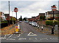 SO8317 : No Entry signs, Churchill Road, Gloucester by Jaggery